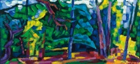 abstract landscape by werner drewes