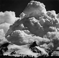 thunderclouds, unicorn peak, yosemite national park by ansel adams
