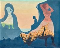 kvinna i brand (woman on fire) by vilhelm bjerke-petersen