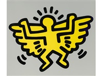 icon #4 (angel) from icon series by keith haring