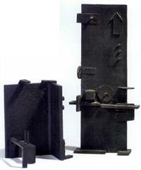 skulptur af hhv (+ another similar, smaller; 2 works) by hardy jacobsen