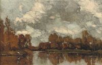 an autumnal afternoon along the river vecht by nicolaas bastert