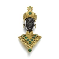 a brooch desgined as a blackamoor by g. nardi