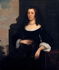 portrait of dorothy westrow, lady knatchbull by edward bower