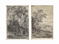 les chèvres (2 works) by claude lorrain