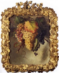 still life of grapes by hortense conte