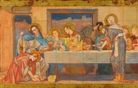 jesus christ in the house of many and martha by violet oakley