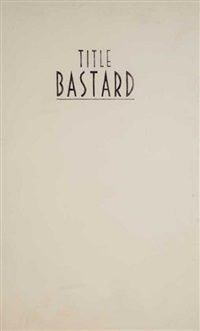 bastard title (the emperor) by jill magid