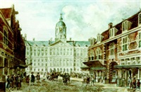 the vijgendam with the royal palace on the dam by willem stad