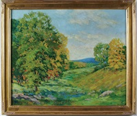 autumn landscape by etta corbett garson