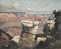 view of the canyon by elliot daingerfield