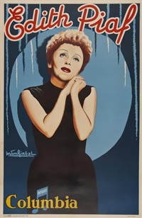 edith piaf by gaston girbal