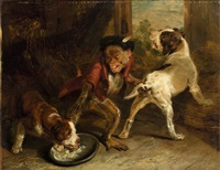 intruding puppies by sir edwin henry landseer