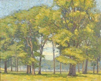 summer landscape by wilfred john addison