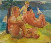three bathers by david park