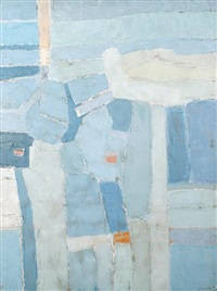 landscape forms (blues with orange) by patrick venton