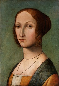 portrait einer jungen dame by giuliano bugiardini