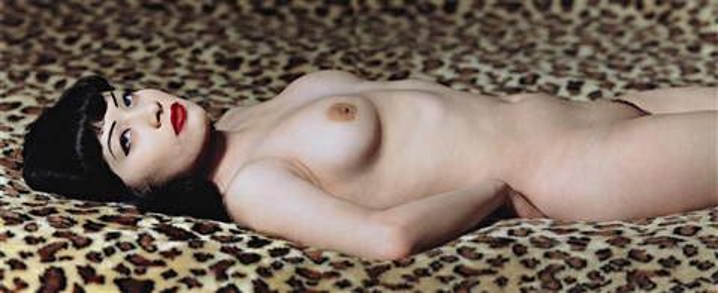 breaunna on leopard print las vegas hilton las vegas by albert watson