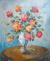 bouquet de roses by alexei konstantinovich korovin
