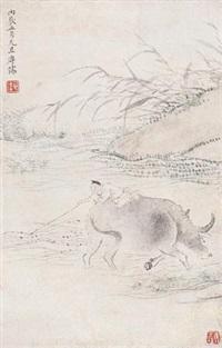 牧牛图 by pu ru