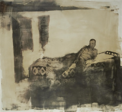 boy on a bed by zwelethu mthethwa