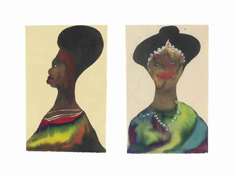 untitled (2 works) by chris ofili