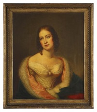 portrait of catherine lucy stevenson shinn haddock (1819-1898) by rembrandt peale