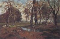 landschaft mit figürlicher staffage by fanny assenbaum