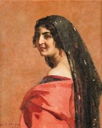 femme algéroise by emile aubry
