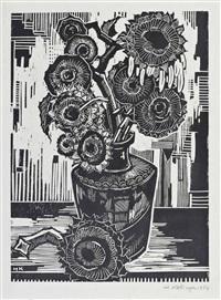 blumenstillleben (2 works) by hans kobinger