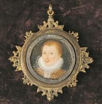 portrait d'homme à la collerette by nicholas hilliard