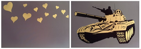 dirty bomb gold diptych by ame 72