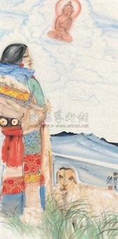 藏族女孩 by li yang