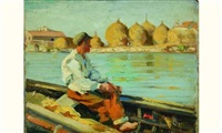 vieux pêcheur, vénétie by alfred smith
