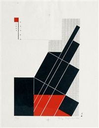 oblique-black-red by fritz schleifer
