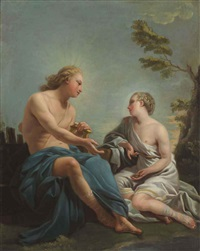 apollo and the cumean sibyl by noel halle