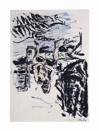 männlicher akt (male nude) by georg baselitz