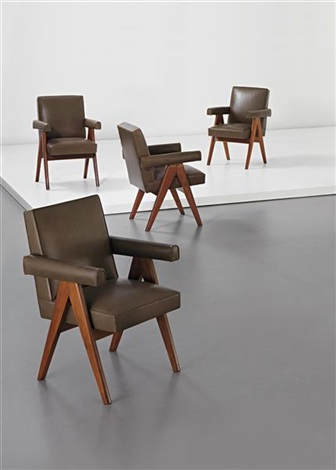 committee armchairs model no pj si 30 a designed for the designed for the high court assembly and panjab set of 4 by pierre jeanneret