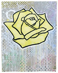 yellow rose (floating) by donald baechler