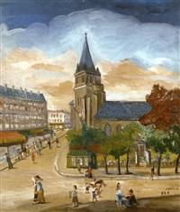 la place saint-germain de près à paris by jean fous