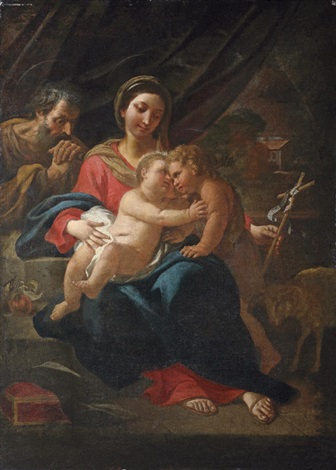 the holy family with the infant saint john the baptist by flaminio dagli ancinelli torri