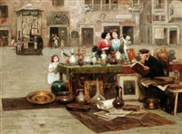 the old antique seller by cesare vianello
