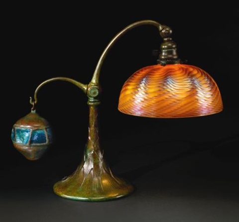 counter balance desk lamp by louis comfort tiffany