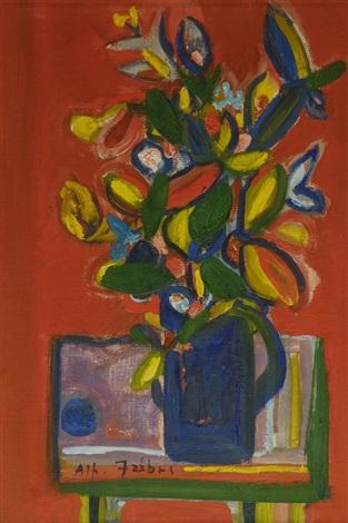 tavolo con vaso di fiori by alfredo fabbri