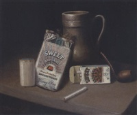 cigarettes, tobacco, pipe and urn by victor dubreuil