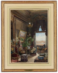 a salon in the winter palace overlooking the hermitage by v. (count) mouravieff