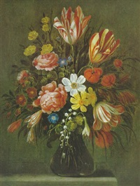 blumenstrauß in einer vase by jan baptist fornenburgh
