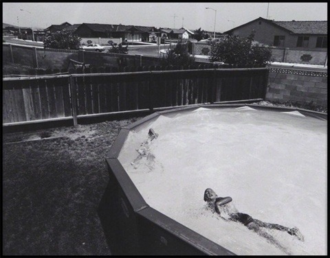 swimming pool from suburbia by bill owens