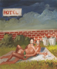outside the hotel by george condo