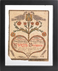fraktur for maria breianin by johann adam eyer